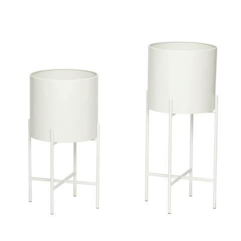 Flower pots Thea, white -30%