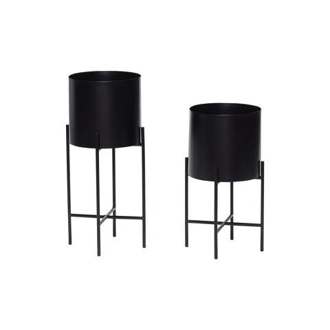 Flower pots Thea, double set, black