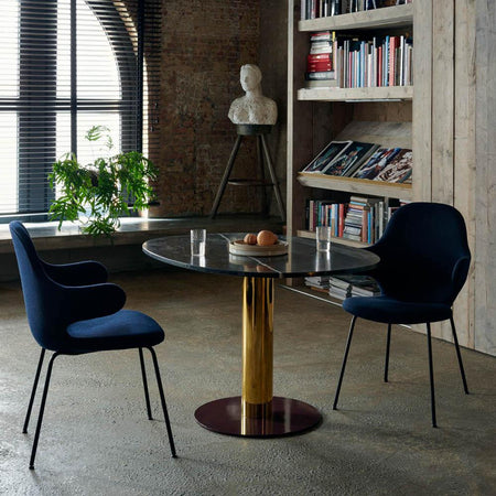 Dining table Mezcla JH22, Ø120cm, Brass, different finishes