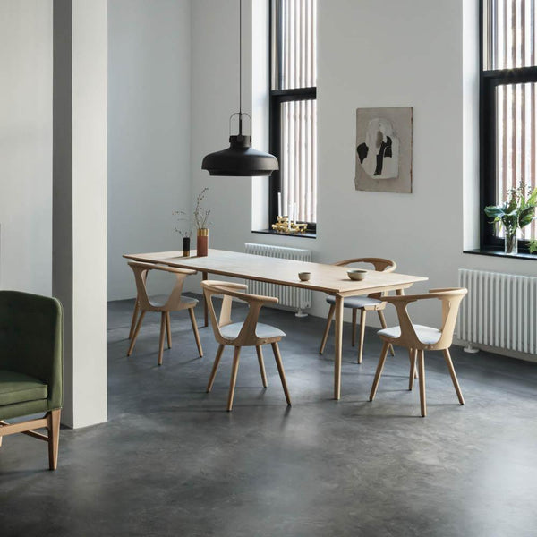 Dining table In Between SK6, different wood finishes, 250x100cm