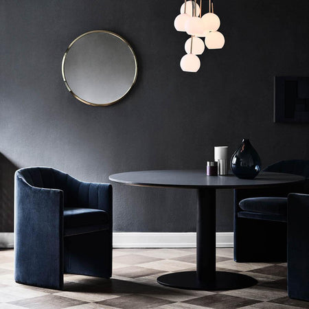 Dining table In Between SK12 Ø120cm, different metal and wood finishes - Nordic Design Home