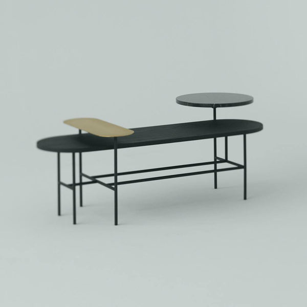 Coffee table Palette JH7, black & Tradition Furniture - Nordic Design Home