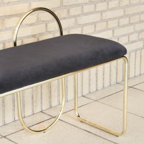 Angui bench, golden AYTM Furniture - Nordic Design Home