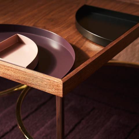 Coffee table Unity, walnut AYTM Mööbel - Nordic Design Home