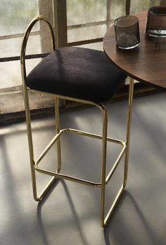 Bar chair Angui seat height 75cm, golden AYTM Furniture - Nordic Design Home