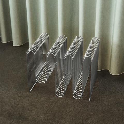 Magazine holder Curva, silver AYTM Accessory - Nordic Design Home