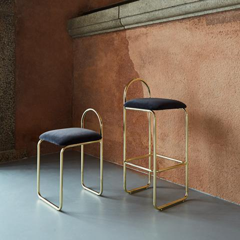Bar chair Angui seat height 65cm, golden AYTM Furniture - Nordic Design Home