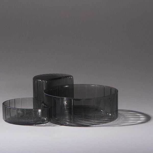 Bowl Concha, black, triple set AYTM Accessory - Nordic Design Home