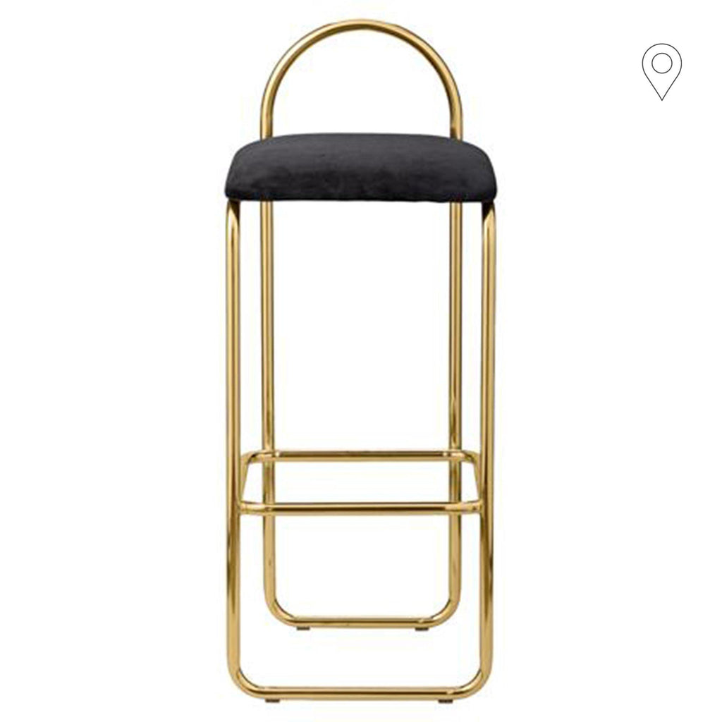 Bar chair Angui seat height 65cm, golden - Nordic Design Home