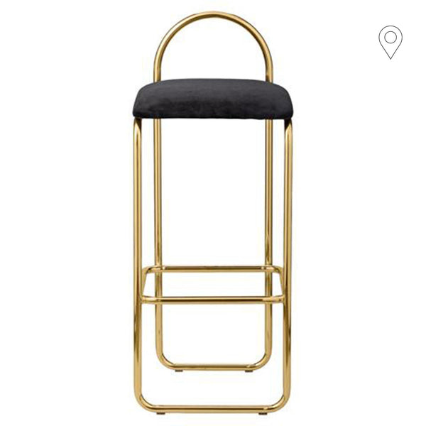 Bar chair Angui seat height 75cm, golden - Nordic Design Home