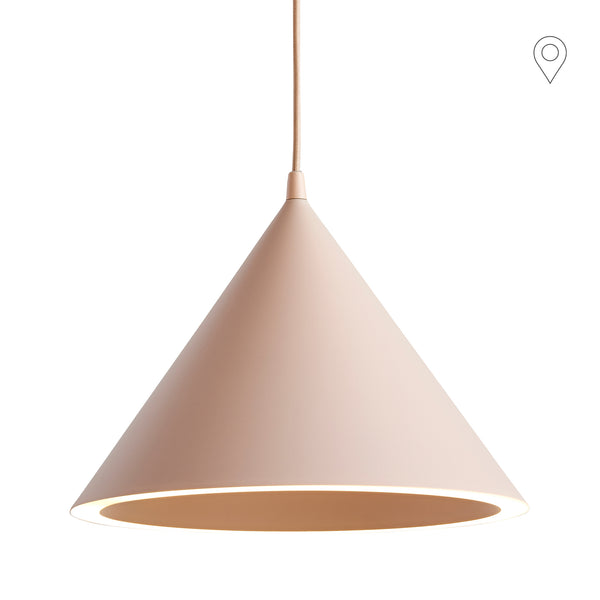 Ceiling lamp Annular small, light pink