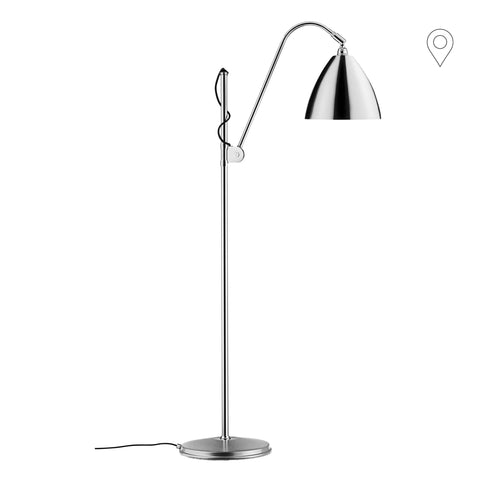 Floor lamp BL3 Ø21cm, different leg and dome finishes - Nordic Design Home