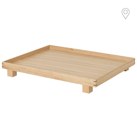Wooden tray Bon, large 36x47cm, natural - Nordic Design Home