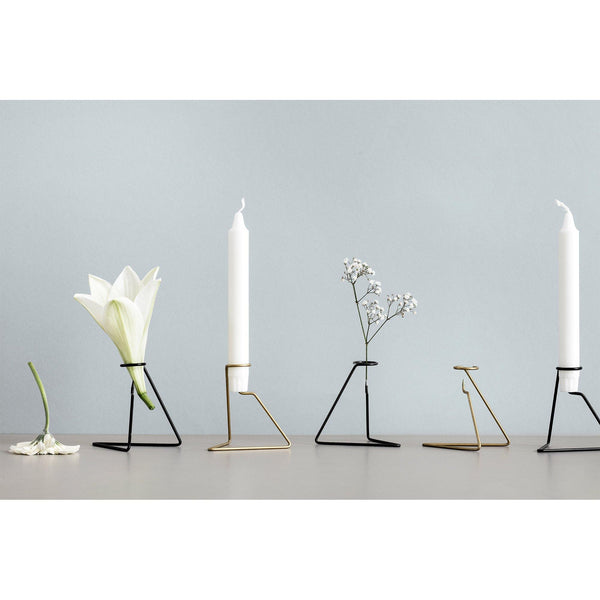 Candlestick Candlelight, black - Nordic Design Home