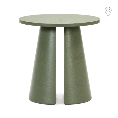 Side table Cep Ø50cm, green