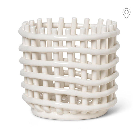 Ceramic Basket Ø16cm, different colors