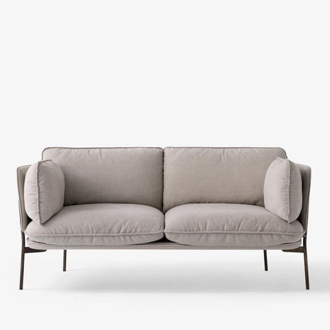 Sofa Cloud LN2, Fiord 151 (light gray), black legs - Sample product -50%