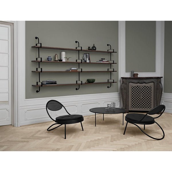Armchair / lounge chair Copacabana, black frame / different cover materials - Nordic Design Home