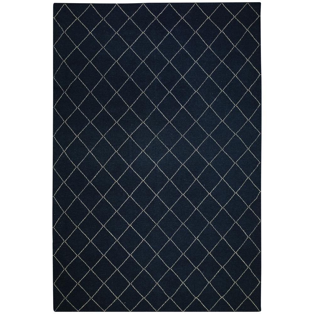 Carpet Diamond, blue / white, different sizes