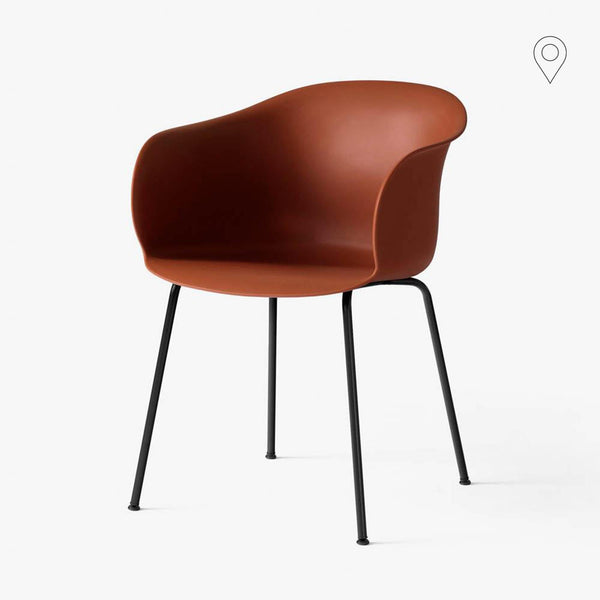 Dining chair Elefy JH28, different colors, black metal legs