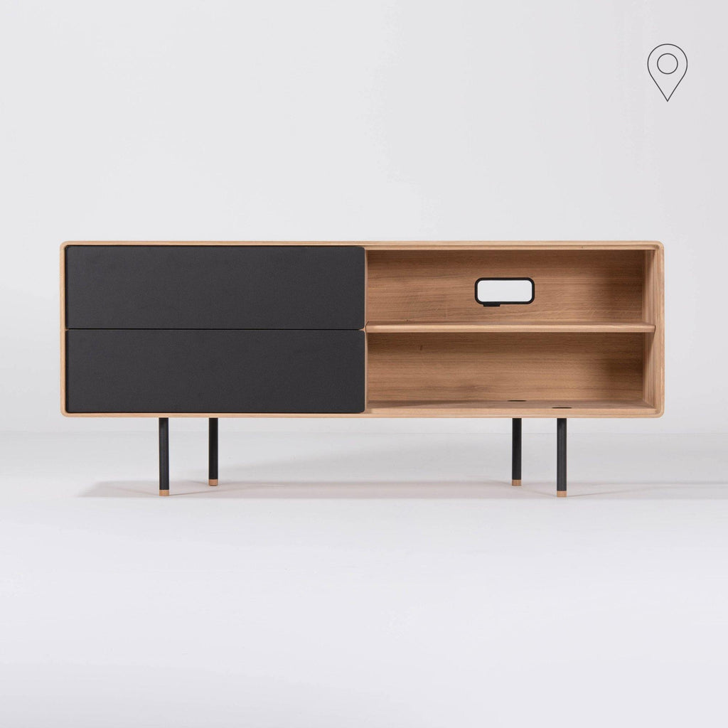 Chest of drawers / TV scale Fina, gray, 150cm - Nordic Design Home