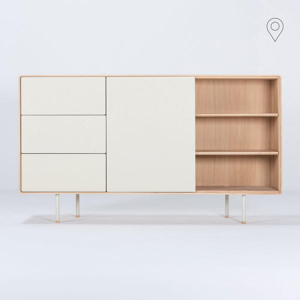 Chest of drawers Fina, beige, 176cm - Nordic Design Home