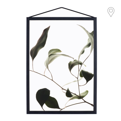 Print Floating Leaves A4, different shapes - Nordic Design Home