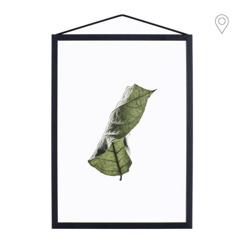 Print Floating Leaves A3, different shapes - Nordic Design Home