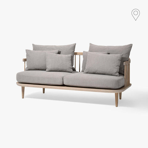 Sofa Fly SC2, double, different fabrics and wood finishes - Nordic Design Home