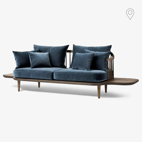 Double sofa Fly SC3, with extra tables, different fabrics and wood finishes - Nordic Design Home