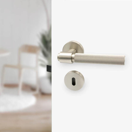 Door handle Helix, stainless steel