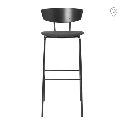 Bar stool Herman, high, textile cover, different colors
