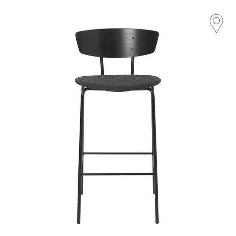 Bar stool Herman, low, textile cover, different colors