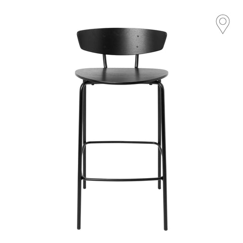 Bar chair Herman, low, black island plywood
