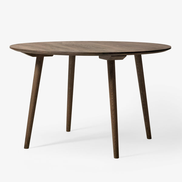 Dining table In Between SK4, different wood finishes, Ø120cm