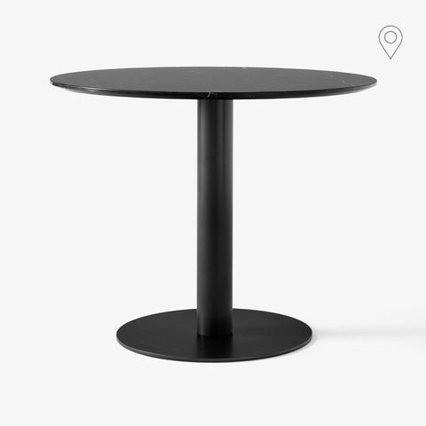 Dining table In Between SK18 Ø90cm, black marble, different leg finishes