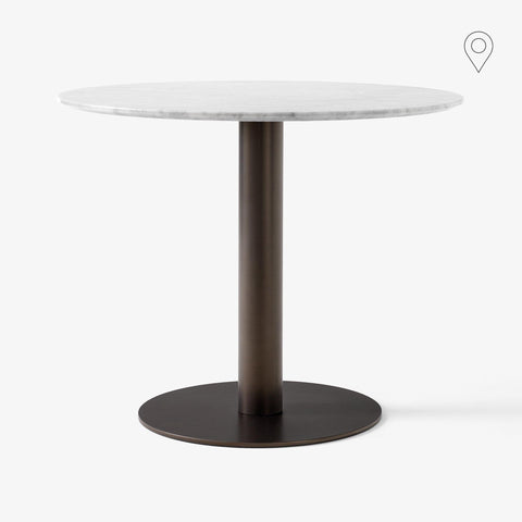 Dining table In Between SK18 Ø90cm, white marble, different leg finishes - Nordic Design Home