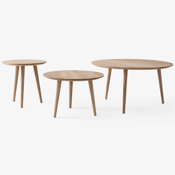 Sideboard / coffee table In Between SK15, Ø90x48cm, different wood finishes