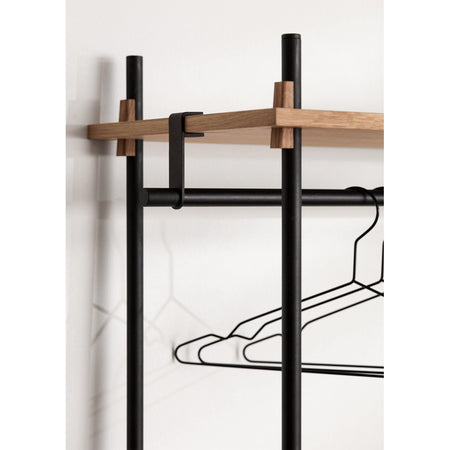 Wardrobe Shelving System set 12a, different finishes