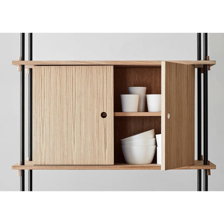 Shelving system with desk Set 17, different finishes