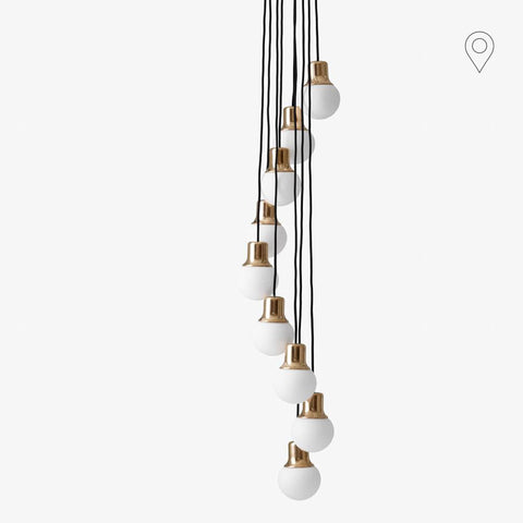 Chandelier Mass Light NA6, brass