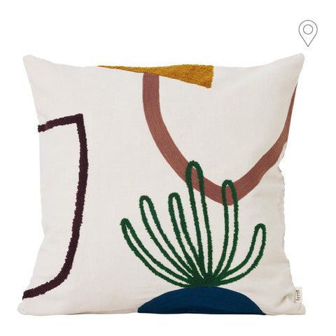 Decorative pillow Mirage Island 50x50cm