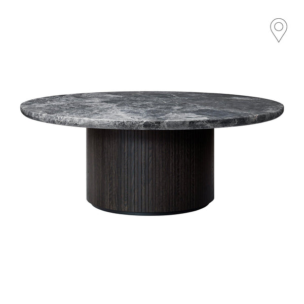 Coffee table Moon, different marble surfaces, Ø120cm
