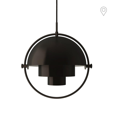 Ceiling lamp Multi-Lite Ø36cm, black brass