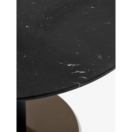 Dining table In Between SK20 Ø150, black marble, different leg finishes