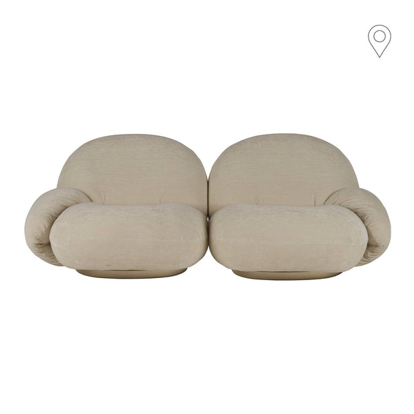 Sofa Pacha, 2-seater, different frames and fabrics - Nordic Design Home