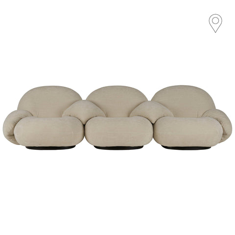 Sofa Pacha, 3-seater, different frames and fabrics - Nordic Design Home