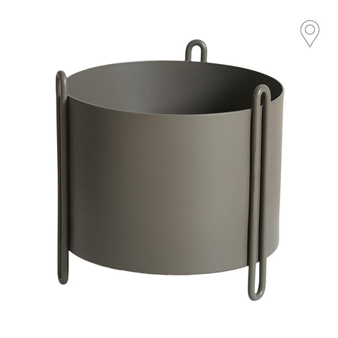 Flowerpot Small stable, beige gray