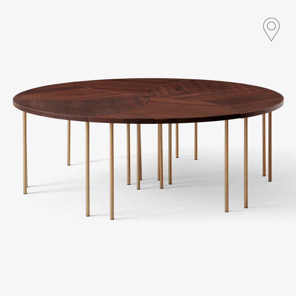 Coffee table Pinwheel HM7, different finishes, set of six (Ø130cm) - Nordic Design Home
