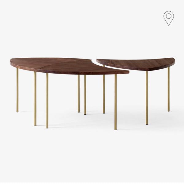 Side table / coffee table Pinwheel HM7, different finishes, triple set - Nordic Design Home